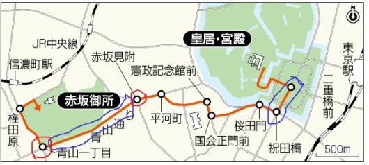 パレード経路図