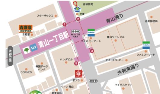 青山一丁目交差点イラスト図2